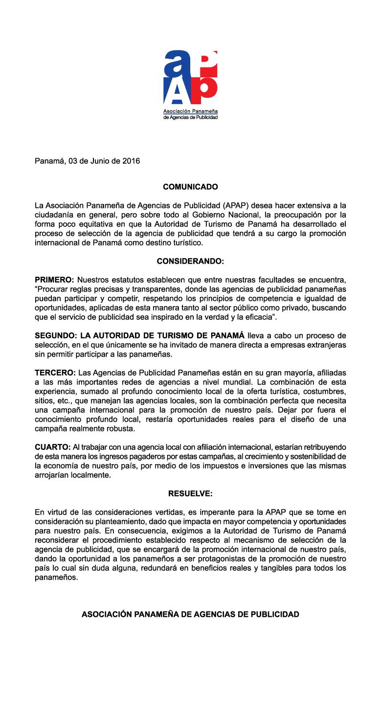 APAP-Comunicado